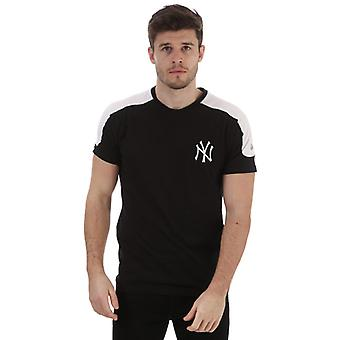 Menns New Era Single Jersey New York Yankees T-skjorte i svart