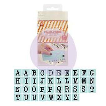 Prima Press Alphabet Stamp Set 1X1cm 39 Pieces