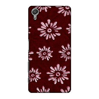 Batik Dyeing Florals - Maroon And Ivory Slim Hard