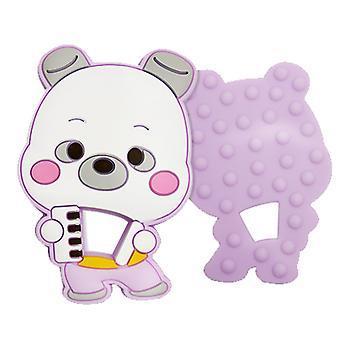 Bear form Silikone teether For småbørn, baby molar stick legetøj