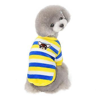 Zachte koraal fleece kleine hond winter huisdier kleding