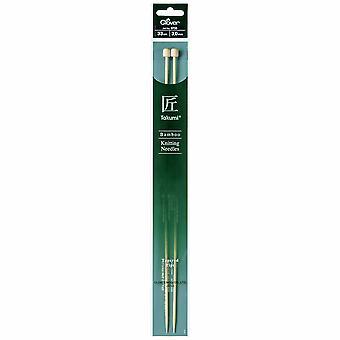 Klöverstickningsstift: Enkelsedd: Takumi Bambu: 33cm x 3.00mm