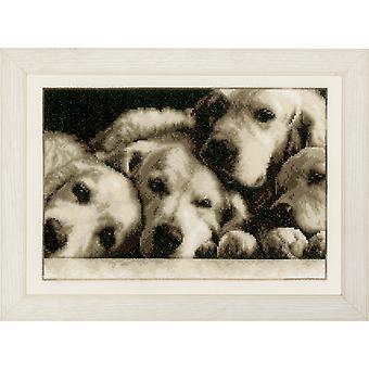 Vervaco Contato Cross Stitch Kit: Labradors