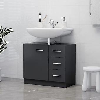 vidaXL Washbasin cabinet Grey 63x30x54 cm chipboard
