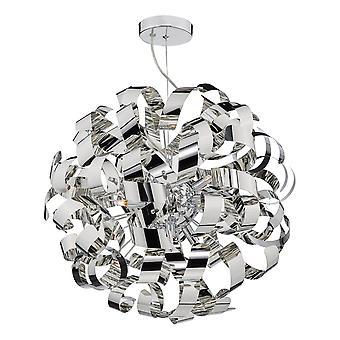 Sfærisk G9 Vedhæng Light Poleret Chrome Bånd, 9x G9