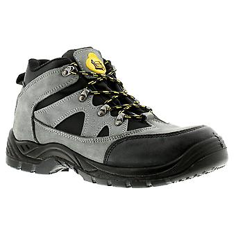 New Mens/Gents Grey Tradesafe Graham Lace Ups Safety Boots UK Size
