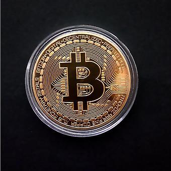 Bitcoins Physikalische Metall fiktive Währung - Gedenkmedaille