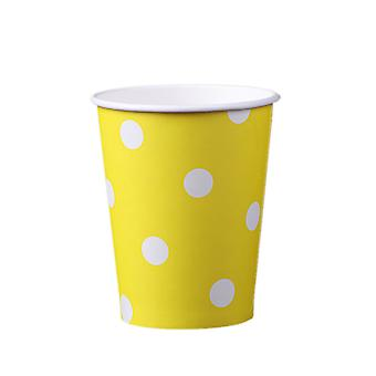 60pcs Polka Dot Paper Paper Cups Case Disposable Tableware Wedding Birthday Decorations 200ml
