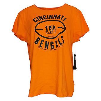NFL Dames Top T-Shirt Met Korte Mouwen Oranje A368422