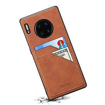 Étui de fente pour carte portefeuille en cuir pour iphone11 6.1 rétro marron no1395