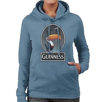 Guinness Toucan Distressed kvinners hettegenser