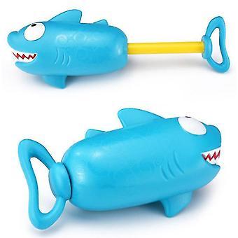 Piggy Shark Pump Tryk Vand Cannon Børn Beach Swimming Pool Vand Legetøj Pumpe Tryk Vand Gun