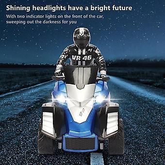 Alta simulación RC motocicleta control remoto moto drift coche flash led luz rotación toy (azul)