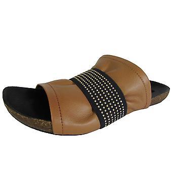 Steven Womens Kayden Leather Slide Sandal Shoe