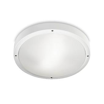 LEDS C4 Basic Technoploymer à '300mm Outdoor LED Simple Flush Wit, Opaal IP65 14.5W 3000K