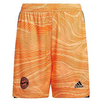 2021-2022 Bayern München Home Doelman Shorts (Oranje) - Kinderen