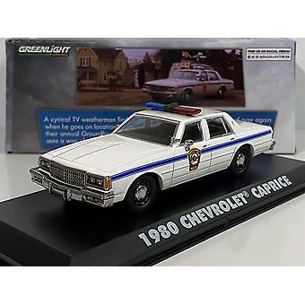 Groundhog Day 1980 Chevrolet Caprice 1:43 Échelle Greenlight 86584