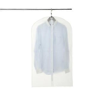 6 ensemble de paquet stand clair de vêtement pour l'ensemble de robe, costumes, sac de zip de voyage protecteur de couverture de manteau
