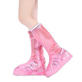 Rózsaszín xs pvc hosszú cső gyermekek eső csizma terjed homi4270