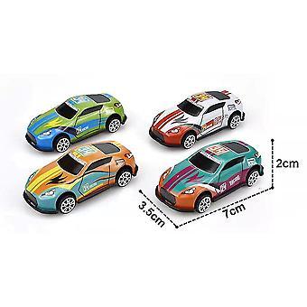 4pcs Toddlers Diecast Pull Back Car Toys Rotating Inertial Racing Car Model