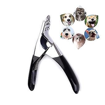 Επαγγελματικό κατοικίδιο ζώο καρφί clipper από ανοξείδωτο χάλυβα σκύλος γάτα toe χλοοκοπτικό (μαύρο)