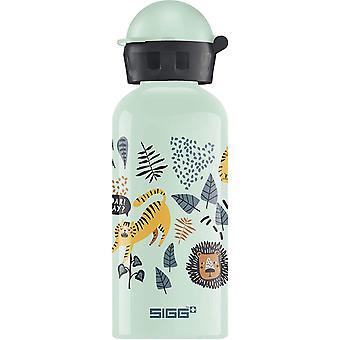 Jungle TZZ Kinder Trinkflasche (0.4 L), schadstofffreie Kinderflasche mit auslaufsicherem Deckel,