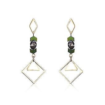 Luxury 18K Gold Plated Geometric Drop Earrings Elegant Ear Stud Best Gift for W