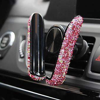 ダイヤモンドで覆われたカーナビゲーションフレームエアアウトレットスナップタイプの携帯電話車ホルダー