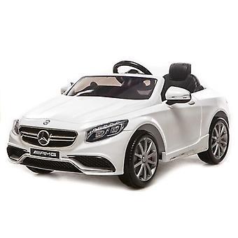 Mercedes S63 AMG wit - met licentie - elektrisch bestuurbare auto