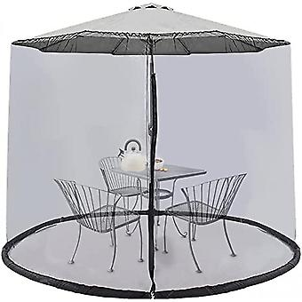 9ft Umbrella Mosquito Netting Screen Cover With Zipper Polyester Mesh For Patio