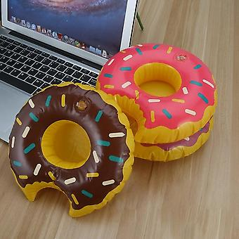 3pcs/set Colorful Pvc Inflatable Donuts Summer Beer Juice Drink Cup Holder