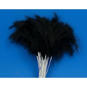36 negro 28cm pluma spray Picks para Floristry & Crafts