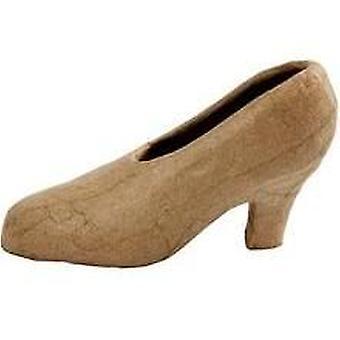 Zapato Mache de papel estilo Cenicienta de 18cm para decorar Papier Mache Shapes