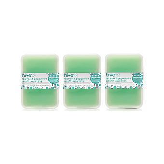 Hive Of Beauty 3 Para 2 Tratamiento de terapia de parafina de árbol de té depilación - Bloque de 450 g