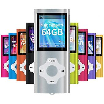 Sliver 8g mp3 mp4 music player with photo viewer e-book reader voice recorder fm radio video lc1128