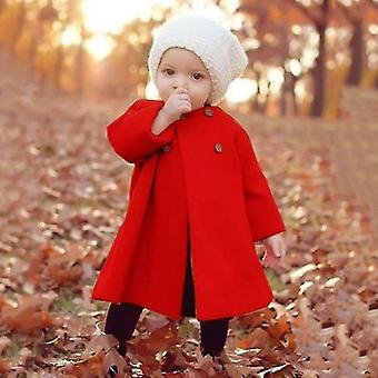 Fete Jacheta de toamna calda long outerwear rezistenta la vant Nou-nascut Baby Coats