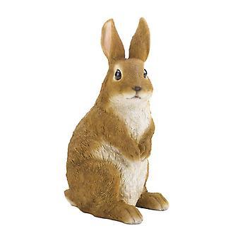 Summerfield Terrass Söt och nyfiken kanin trädgård figurin, packning av 1