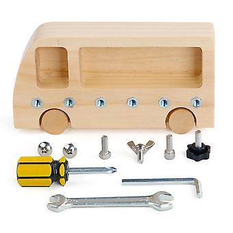 Busschraube Set Geschicklichkeit Lernen Montessori Sensorische Spielzeuge Interactive BusyBoard Games Kinder