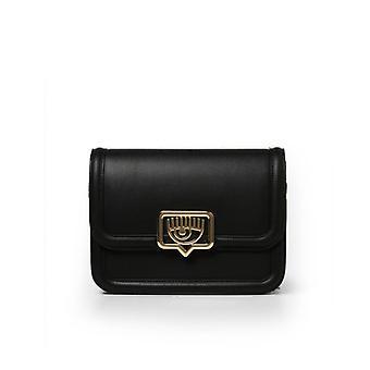 Chiara Ferragni Eyelike Metal Black Large Crossbody Bag