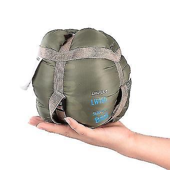 190 * 75Cm Campingumschlag Schlafsack ultraleichte Reise Mini Lazy Taschen mit Kompressionsbeutel