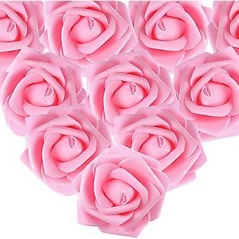 100pcs künstliche weiße Rosen 7 Cm Blumen, Blume Köpfe weiße Ornamente, Hochzeit Bankett weiße Haarornamente