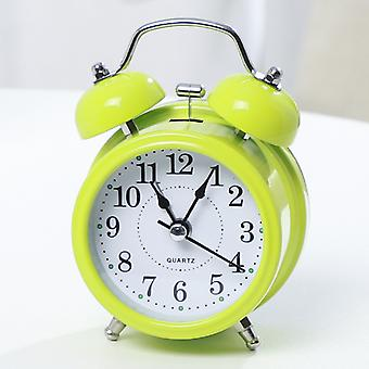 Alarm Clock Digital Alarm Clock Digital Metal Bell Student With Small Alarm Clock (green