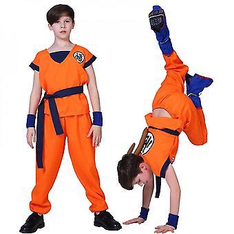 Qian Goku Zestaw kostiumów Dragon Ball Z Suit Halloween Anime Cosplay Outfit dla dzieci Dorośli