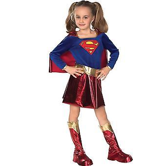 90-140cm Výška Detská karnevalová párty Girl Heroes Superman Oblečenie Role Playing Dress