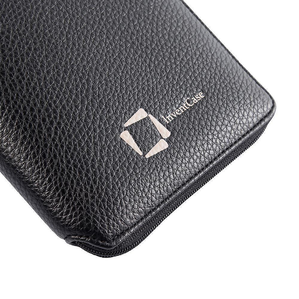 InventCase PU Leder RFID-Blockierung Pass / ID-Karte / Geld Brieftasche Veranstalter Holder Case Cover für die Türkei / türkische Pässe - schwarz