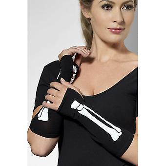 Mănuși de oase negru mănuși de oase albe