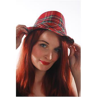 Punk kapelusz kapelusze z szkocki Tartan