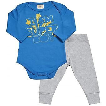 Spoilt Rotten I Am Super Boy Babygrow & Jersey Trousers Outfit Set