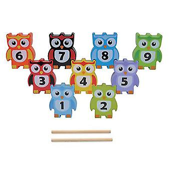 Jumini Wooden 9 Piece Stacking Owls