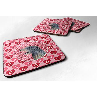 Carolines Treasures  SS4506FC Set of 4 Irish Wolfhound  Foam Coasters